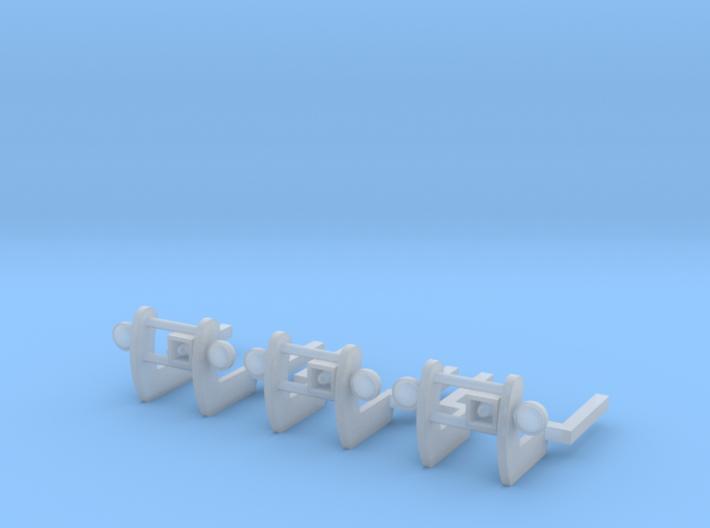 1/87 Pushbar set of 3 3d printed