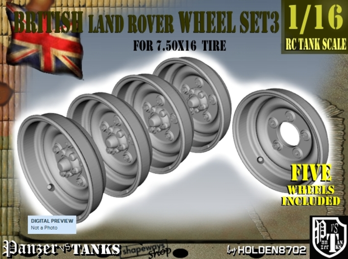 1-16 Land Rover 750x16 Wheels Set3 3d printed