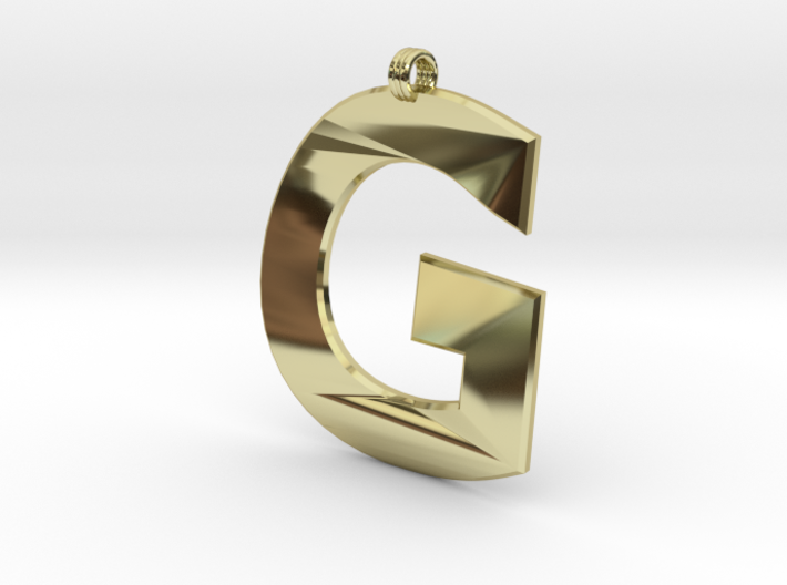 Distorted letter G 3d printed