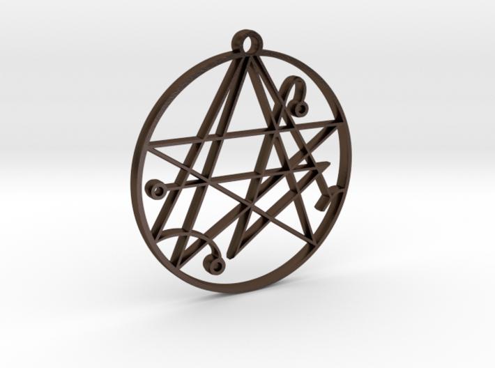 Mystical Cthulhu Symbol Pendant 3d printed