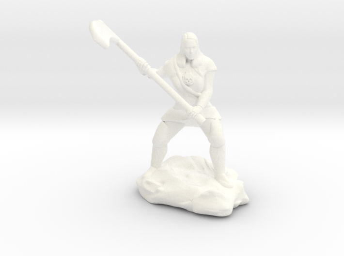 Female Human Cleric of Wee Jas With Scythe 3d printed