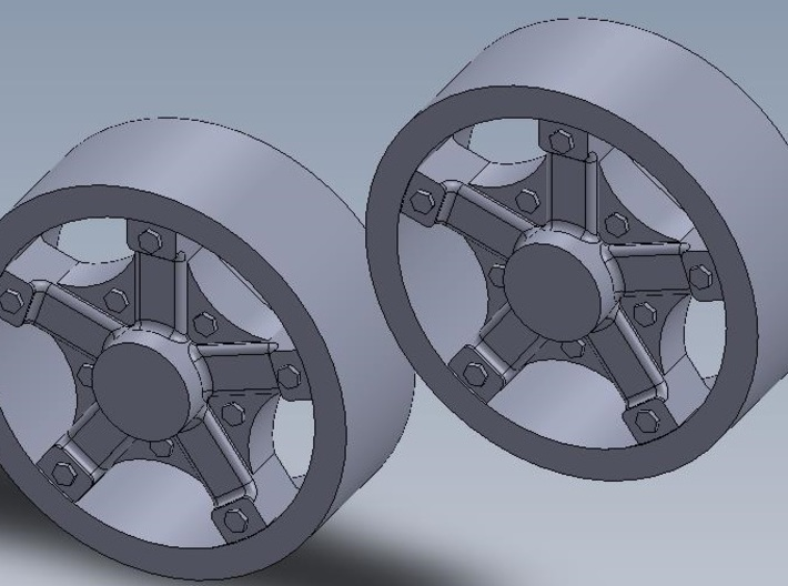 1:64 Front Dayton Wheels 3d printed