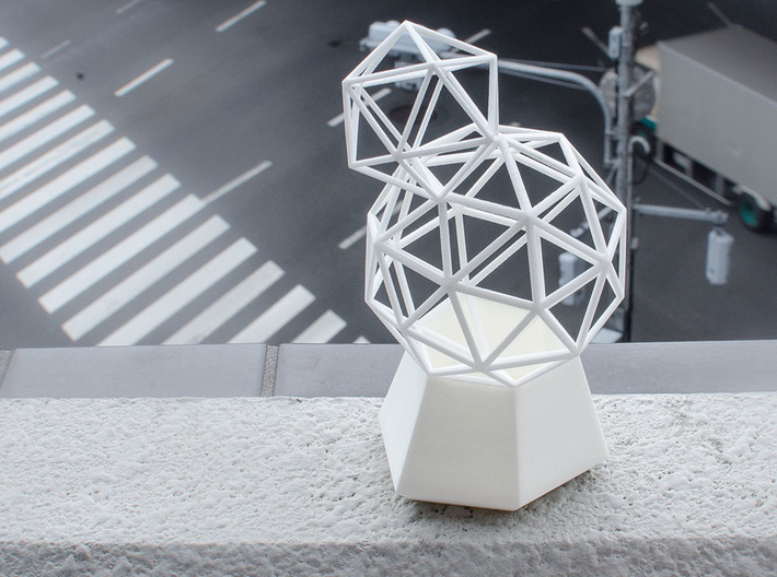 Flower Vase_geometrical solidv 3d printed