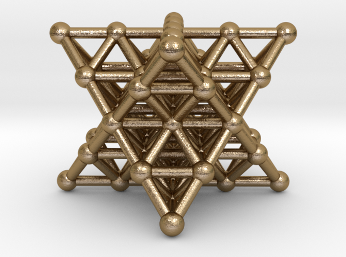 Merkaba Matrix 2 - Star tetrahedron grid 3d printed