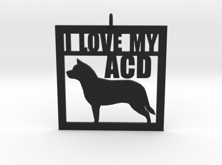 I Love My Australian Cattle Dog 3d printed