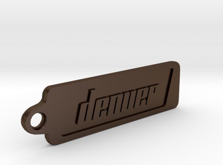 Denver, Colorado Keychain 3d printed