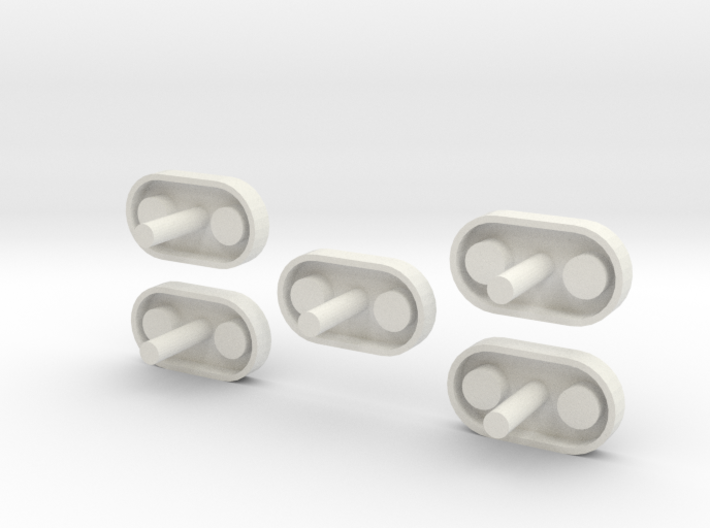Thrust Structure Adapter 1:48 5 Pack 3d printed