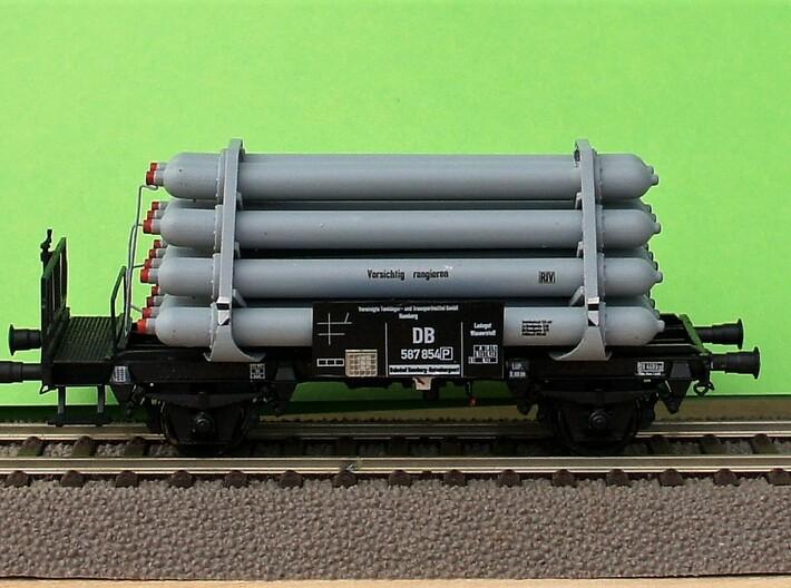 Wasserstoff Flaschenwagen 3d printed