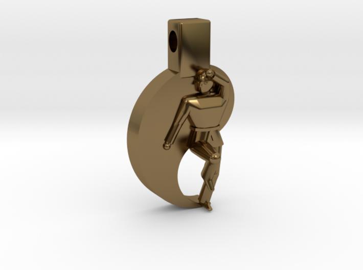 Pendant - Mens Keumgang 3d printed