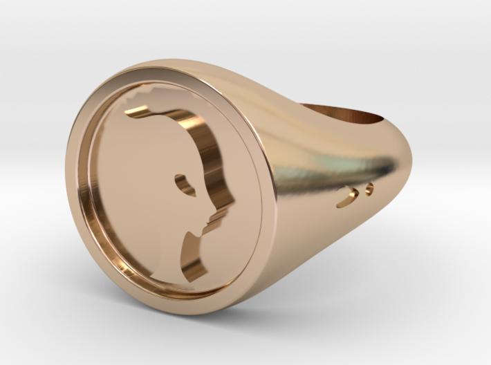 Ring Princess Alien 3d printed