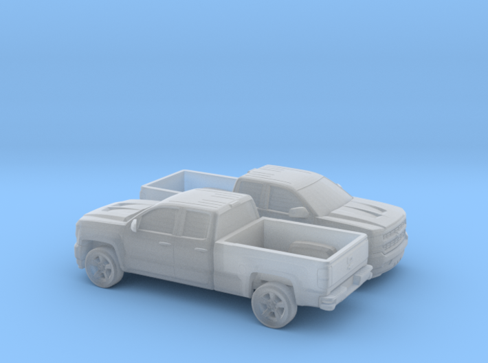 1/160 2X 2016/17 Chevrolet Silverado EXT Cab Long  3d printed