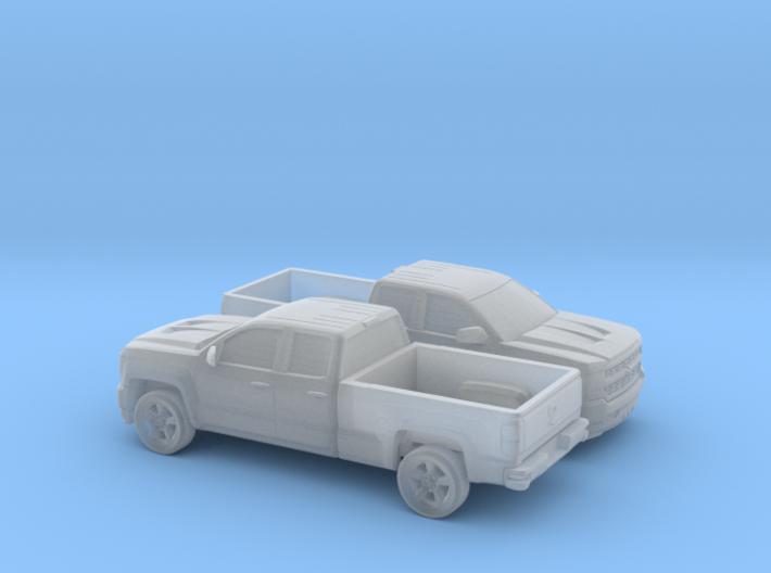 1/160 2X 2016/17 Chevrolet Silverado EXT Cab Long 3d printed