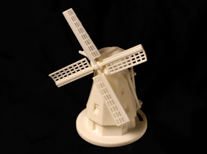 Dutch Windmill 3d printed Front view of Windmill