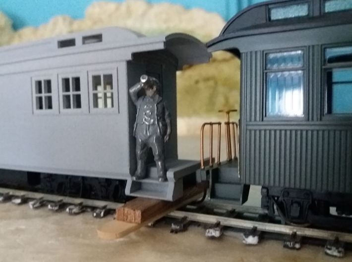 On30 Doodlebug/Railmotor Lindsay2 3d printed Image of prototype, printed in WSF and painted in primer.