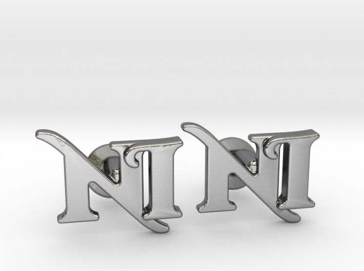 Monogram Cufflinks NI 3d printed