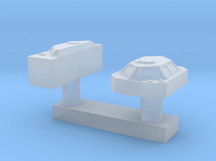 1:200 Scale Nimitz Class ICCS 3d printed