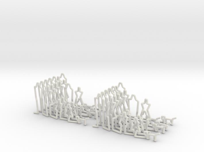 People Models 14x 1-100 Scale 3d printed
