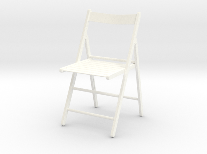 1:12 Chair wood folding.open 3d printed