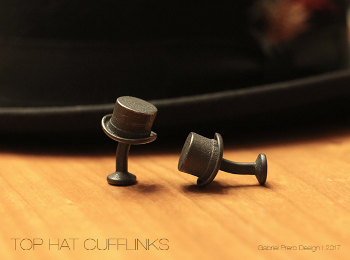 Top Hat Cufflinks 3d printed