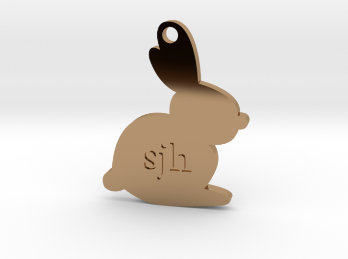 Personalized Bouncing Baby Bunny™ Charm 3d printed