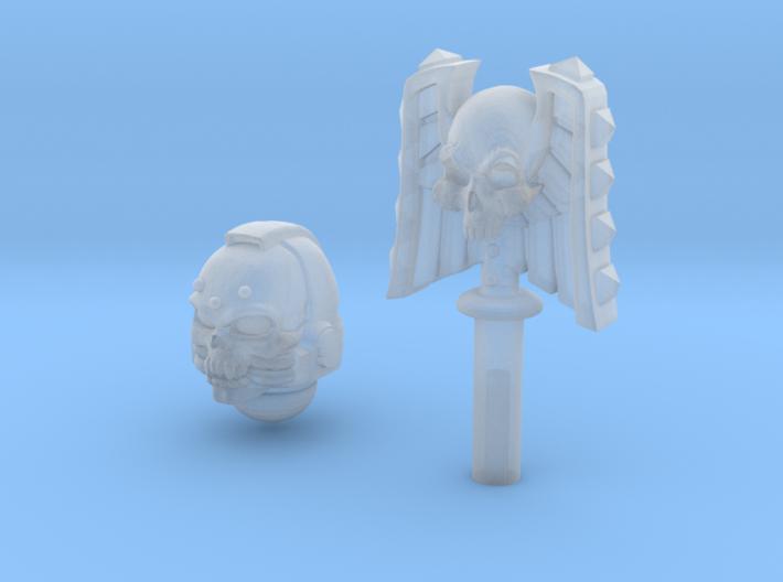 Skull Helm & Hammer 2 3d printed