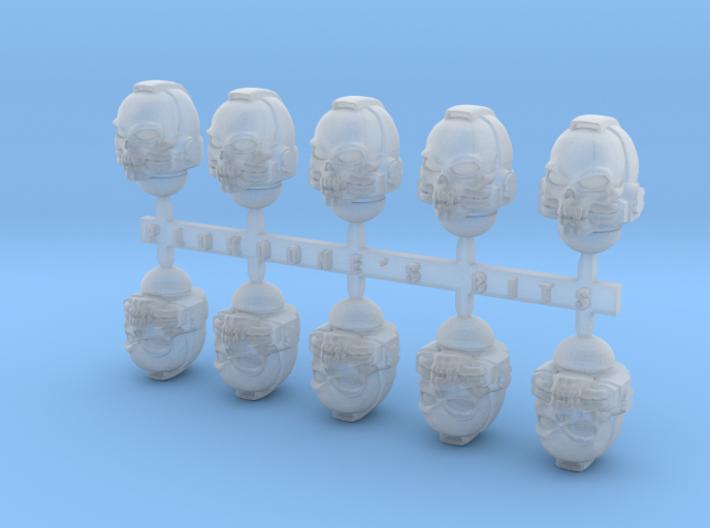 Skull Helmets x10 3d printed