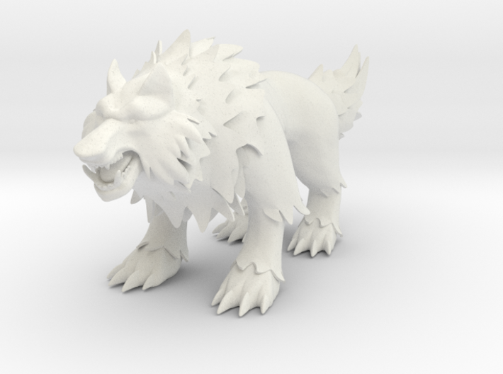 Non-scale Rehgar Wolf 3d printed