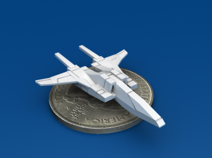 Space Fighter Type-B, 4-Pack 3d printed Forward 3/4 View