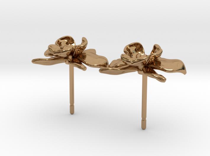 Petite Orchid Earrings 3d printed