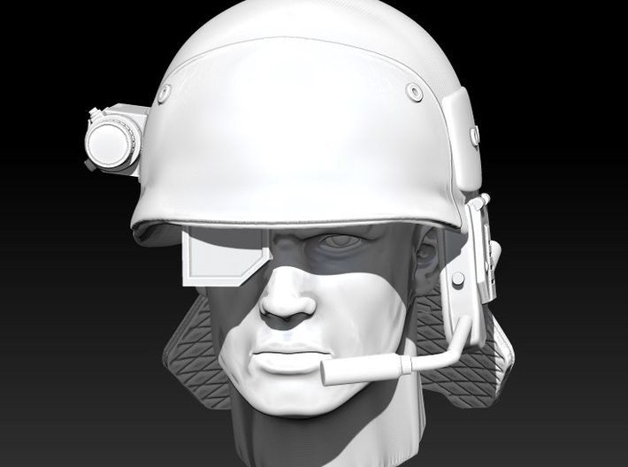 Marine Helmet 1:10 scale 3d printed head not included and only shown for scale