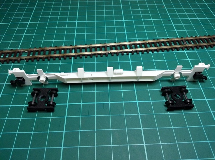 3 * FEA-F Wagon N Gauge 1:148 3d printed FEA-B Side