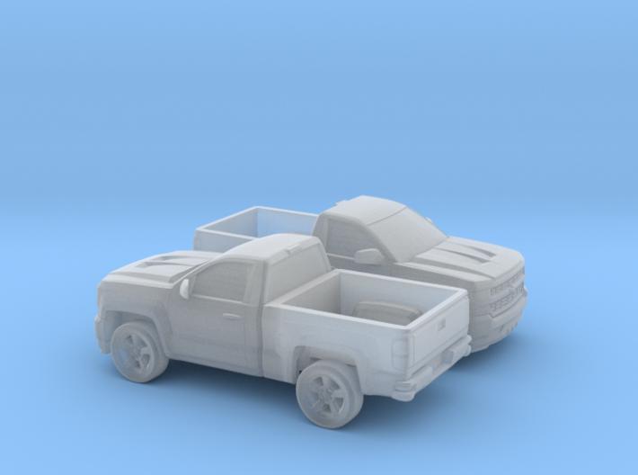 1/160 2X 2016/17 Chevrolet Silverado Single Cab S 3d printed