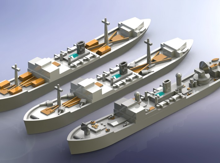 """German Auxiliary Cruiser HSK """"Coronel"""" 1/1800 3d printed Add a caption..."""