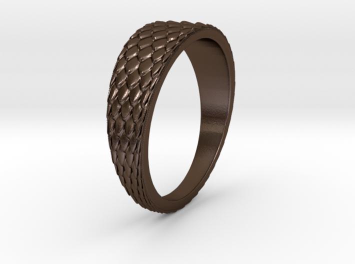 Dragon Skin Ring 3d printed