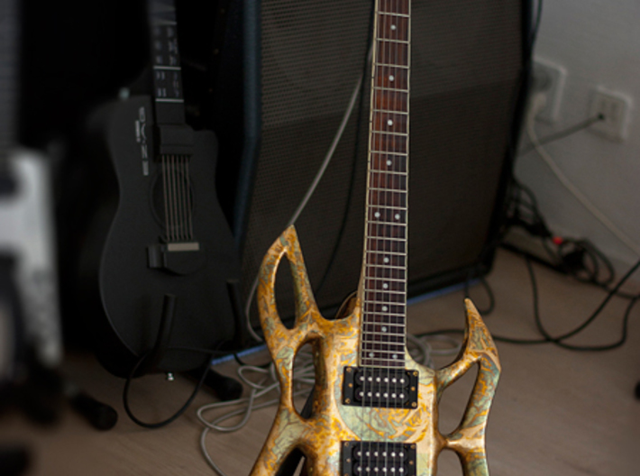 guitar body shell 3d printed