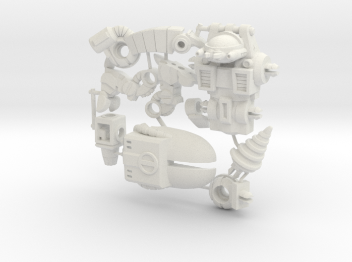 P.E.S.T. Powersuit Figure Kit 3d printed
