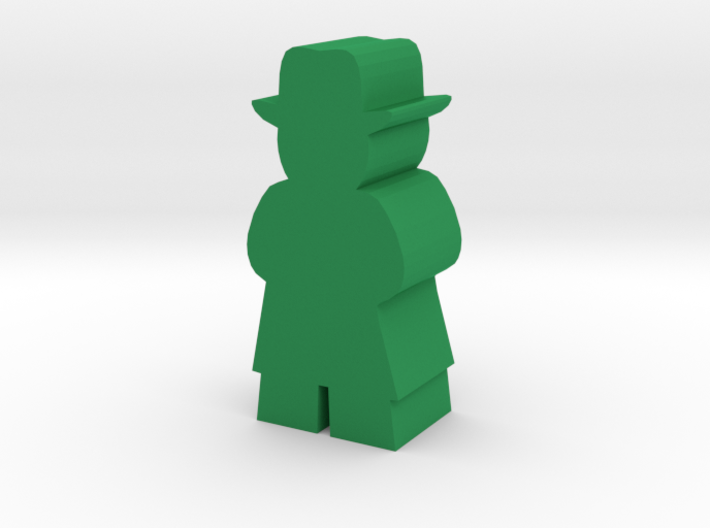 Game Piece, Man With Fedora and Tenchcoat 3d printed