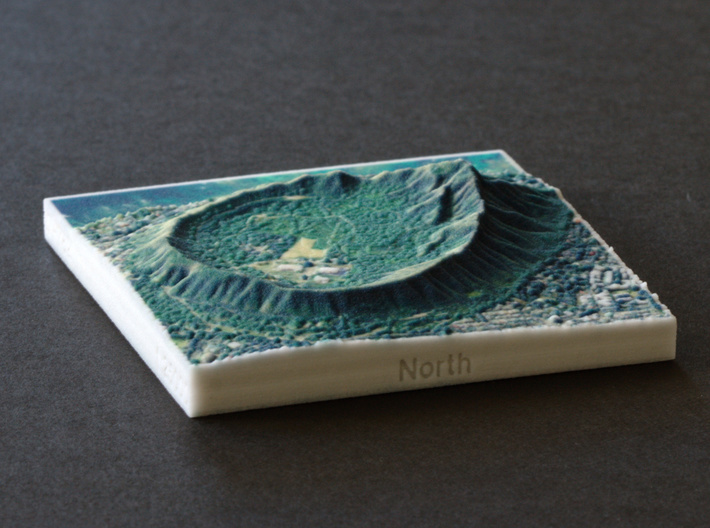 Diamond Head, Hawai'i, USA, 1:25000 3d printed