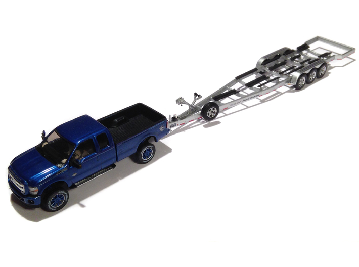 1/87 Myco Trailer speedboat-trailer - alternative  3d printed Myco Trailer in alloy with Ford F250 2013 from my shop
