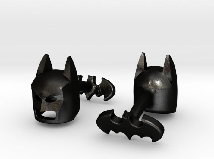 Batman Cufflinks 3d printed