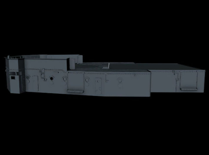 1/100 Bismarck Lower Mast Deck  3d printed