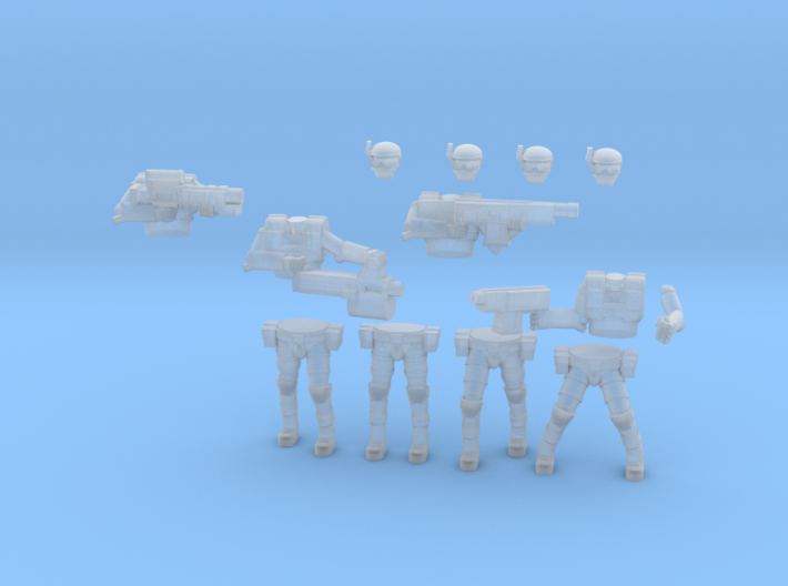 36MM Squad Builder Light Armor Troopers 3d printed