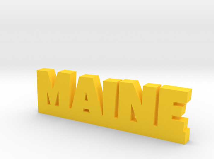 MAINE Lucky 3d printed
