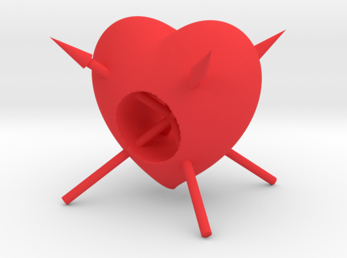 Arrow Through Heart 3d printed