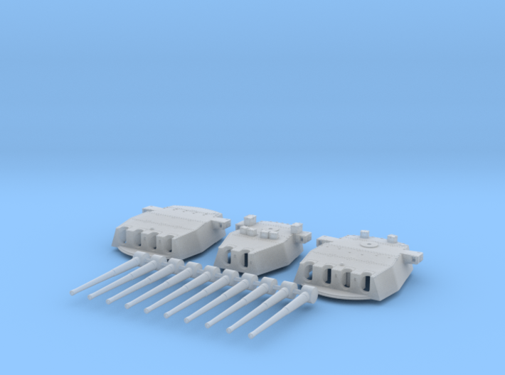 "1/570 HMS Prince of Wales 14"" Turrets 1941 3d printed 1/570 HMS Prince of Wales 14"" Turrets 1941"