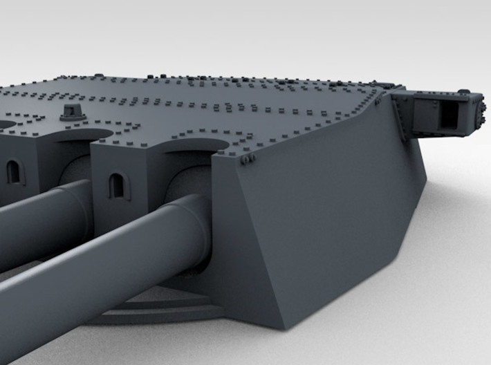 "1/570 HMS King George V 14"" Turrets 1942 3d printed 3d render showing product detail (A Turret)"