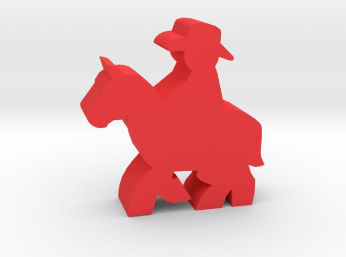 Game Piece, Cowboy, Riding Horse 3d printed