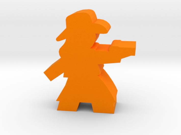 Game Piece, Cowgirl, Dress Aiming Pistol 3d printed