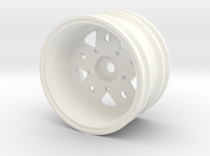 Rim004-09 Fuchs Style 9mm Offset, MSize Wheel 3d printed
