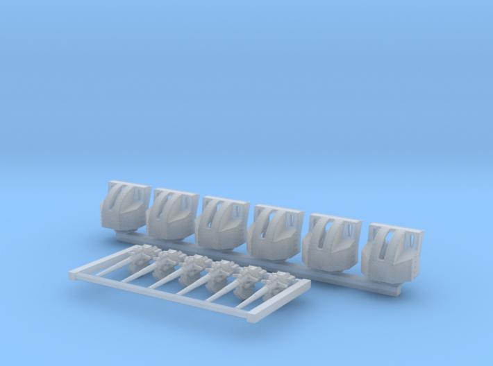 1/700 4.7 Inch /40 (12cm) QF Mark VIII x6 3d printed 1/700 4.7 Inch /40 (12cm) QF Mark VIII x6
